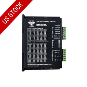 Us Ship 1pc Stepper Motor Driver Controller 7 8a 256micsteps 24 80vdc Dm860a Cnc