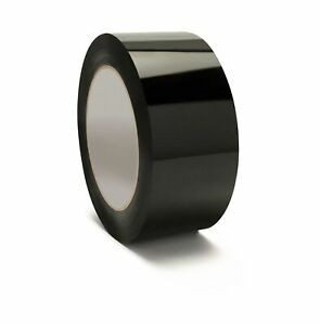 Black Color Carton Sealing Packing Tape 2 X 55 Yds 165 Ft 2 Mil 144 Rolls