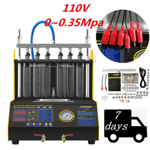 Ct200 6 Cylinder 110v 70w Ultrasonic Fuel Injector Cleaner Tester For Car Motor