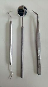 Dental Stainless Steel Instruments Pmt Kit Of 3 Pcs By Visa Germany