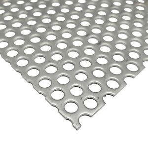304 Stainless Steel Perforated Sheet 0 075 X 12 X 24 Hole Size 1 4