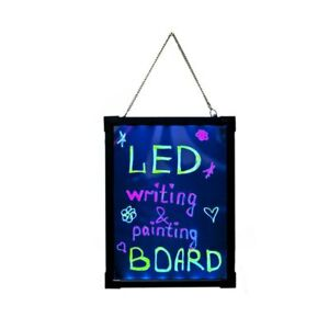 Aleko Multicolor Illuminated Erasable Neon Led Message Board With Controller