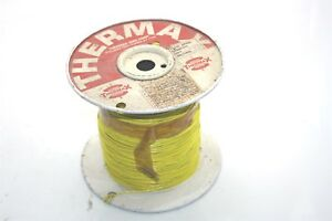 Thermax M22759 11 18 4 1000 Ft Silver plated Teflon Wire 18 Awg 600v Yellow 200c