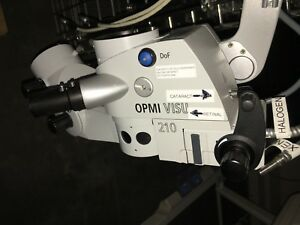 Carl Zeiss Opmi Visu 210 Ceiling Mounted Surgical Microscope