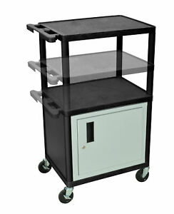 Luxor Lp Carts Series Av Cart With Cabinet