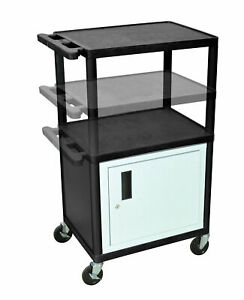 Luxor Lp Carts Series Av Cart With Cabinet electric
