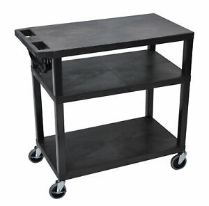 Luxor Presentation Av Cart With 3 Shelves