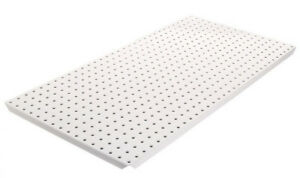 Alligator Board Powder Coated Metal Pegboard Panels With Flange In White
