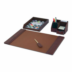 Dacasso 4 Piece Desk Set Mocha