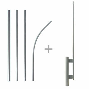 15 Windless Pole Ground Spike For Swooper Feather Flag Kit Full Sleeve New