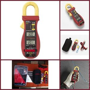 Handheld Electric Dual Display Digital Clamp Ac dc Multimeter With Temperature
