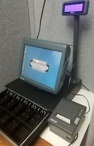 Micros Workstation 5 Table Stand 400825 001 Printer Lcd Pole Display Drawer Ws5a