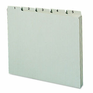 Pressboard Daily Recycled Top Tab File Guides 31 set