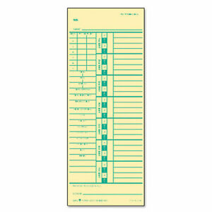 Tops Time Card For Acroprint And Simplex Set Of 500