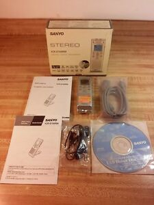Sanyo Icr s700rm 256 Mb Stereo Digital Voice Recorder Usb 2 0 Mini Sd Card Slot