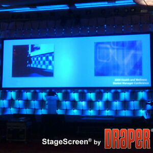 Stagescreen Cineflex Portable Projection Screen 360 Diagonal 4 3 Matte White