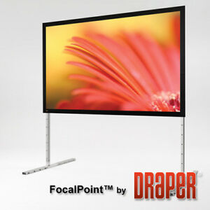 Focal Point Black Portable Projection Screen Matte White 165 Diagonal 16 9