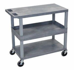 Offex Adjustable Height Av Cart Blue