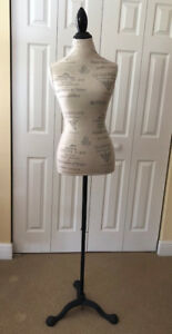 Female Mannequin Torso Clothing Dress Form With Stand Frenchy Collection