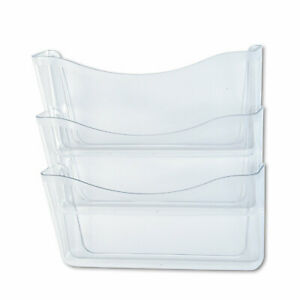 Rubbermaid Unbreakable Three pocket Wall File Set A4 letter Clear