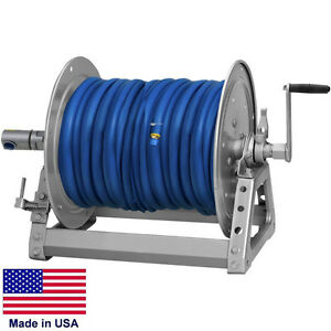 Pressure Washer Sprayer Manual Hose Reel 300 Ft 3 8 Or 200 Ft 1 2 Id Hose