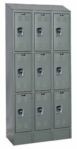 Hallowell Readybuilt Ii 3 Tier 3 Wide Employee Locker