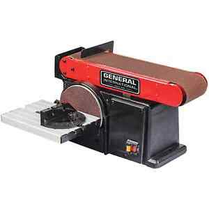 Belt Disc Sander Quick Release System Rust Resistant Durable Tilting Work Table