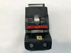 Fpe Federal Pacific Stab lok 100 Amp 2 Pole Circuit Breaker Type Na ni