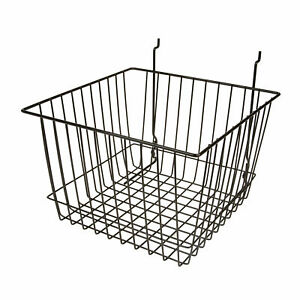 Econoco Multi Fit Wire Pegboard Slatwall And Gridwall Bins And Baskets Set Of 6