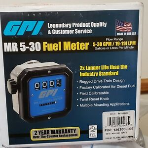 Gpi Mr5 30 g12n Mechanical Disk Fuel Flowmeter 1 5 inch Inlet outlet
