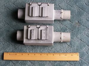 Two 2 Mulberry Fsc 3 External Electrical Boxes W Covers End Caps