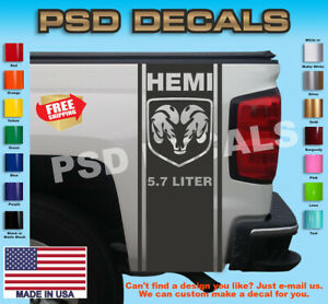 Dodge Ram 1500 2500 3500 Vinyl Decal Racing Sticker Stripe Hemi Mopar 5 7l T 254