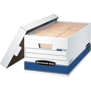 Bankers Box Stor file Letter Lift off Lid White 12 count