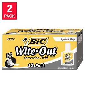 Bic Wite out Quick Dry Correction Fluid 24 count