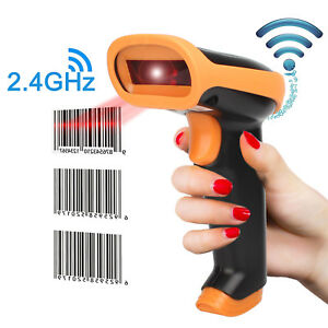 2 4ghz Handheld Cordless Bar code Reader Usb Rechargeable Wireless wired For Pos