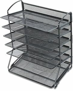 Document Letter Tray Organizer 6tier Tray Desk Office Home Spa Utility Mesh New