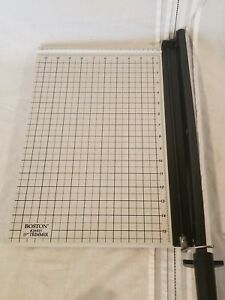 Boston 26915 Guillotine Style 15 Trimmer Desk Top Paper Cutter Free Shipping
