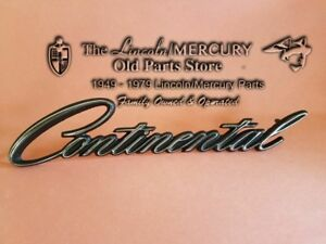1964 1965 1966 Lincoln Continental All Quarter Nameplate Script C4vy 5325622 a