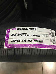 4 New 235 75 15 Nexen N Priz Ah5 White Wall Tires