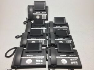 Lot Of 7 Siemens Openstage 60 G Sip Poe Voip Business Office Phone With Handset