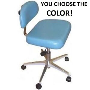 New Galaxy 1062 Doctor s Contoured Adjustable Air lift Dental Seat Stool Chair
