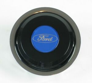Nardi Classic Steering Wheel Horn Button Black With Ford Logo Nos