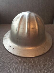 Vtg Mcdonald Hard Hat Aluminum Full Brim Mining Construction Logging Los Angeles