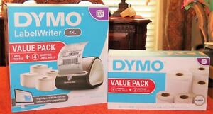 Dymo Labelwriter 4xl Value Pack Label Printer And 4 Label Rolls Plus 6 Rolls