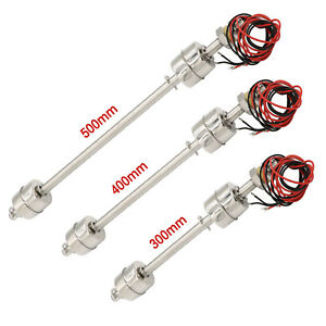 Large Size Liquid Level Sensor Stainless Steel Double Ball Float Switch Tank