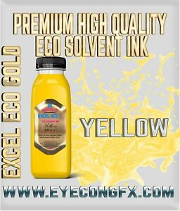 Yellow High Quality Eco Solvent Ink Mutoh mimaki Roland etc