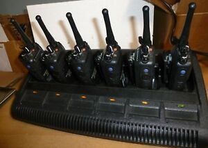 6 Xpr 6350 Uhf Mototrbo Radios And 6 unit Impres Charger