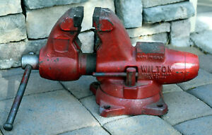 Wilton 3 1 2 Bullet Bench Vise W Swivel Base No 101166 Red pick Up Only