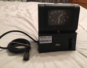 Lathem Time Company Card Punch Wall Table Clock Model 2121 No Key
