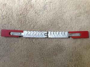 Vintage Fishing Jig Lead Weight Mold  - No Model on it. Red Handle - 14 on back